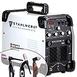 STAHLWERK AC/DC TIG 200 Plasma ST IGBT Machine à souder TIG 200A Combiné avec coupeur de plasma CUT 50 A, Convient pour l´Aluminium, Garantie de 7 ans