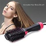 Brosse Soufflante,Brosse Sche-cheveux,1000W Brush/Peigne Lissante Chauffante Ionique- Peut Faire les Cheveux Boucls/Lisss