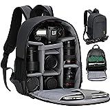 TARION TBS Sac à dos pour appareil photo Petit sac à dos pour appareil photo SLR Sac à dos pour appareil photo étanche Sac pour appareil photo léger et compact avec housse de pluie