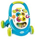 Smoby - 211011 - Trotteur Cotoons Walk and Play - Trotteur Enfant - Multifontion - sons et Lumières - Bleu
