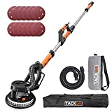 Ponceuse Girafe, TACKLIFE Ponceuse Autonettoyante pour Plafond 800W Autoportante avec  225 mm Disque de Ponage Hook and Loop 12PC, Rallonge 1,6-1,9M, Lumire LED, Tte Pivotante PDS03A