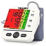 Tensiomètre Bras Electronique, Tensiomètre Professionnel Détection Automatique d'Hypertension, Arythmie Cardiaque, Pouls, 2X99 Mémoires, Brassard Adjustable 22cm-40cm