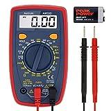 AstroAI Multimètre Numérique Portable, Mini Multimètre Digital, Testeur de Tension Testeur Electrique DC/Voltmètre /Résistance /Continuité /Diodes (Double Fusible pour Anti-brûlure)