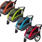 Tiggo World Convertible Jogger Remorque à Vélo 2 en 1, pour Enfants 60302-03 (Bleu)