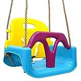 LittleTom 3en1 Balançoire Bébé 40x43x33cm Petits Enfants 6-72 Mois Bleu-Jaune