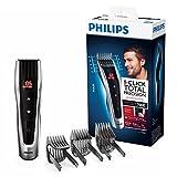 Philips HC7460/15 Tondeuse cheveux Series 7000 avec sabots motorisés,Gris/Noir