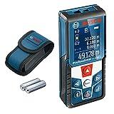 Bosch Professional télémètre laser GLM 50 C (transfert de données par Bluetooth, inclinomètre 360°, portée : 0,05 – 50 m, 2 piles 1,5 V, housse de protection)