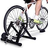 Sportneer Support d'entrainement pour vélo - Support magnétique pour Entrainement de vélo en Acier avec Roue réductrice de Bruit(Noir)