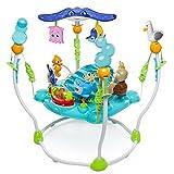 Bright Starts, Disney Baby Aire d'Eveil à Rebonds Le Monde de Nemo avec plus de 13 jouets et activités, musique et lumières, siège rotatif à 360 degrés