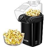 Machine à Pop Corn, Aicok Retro Popcorn Maker, Air Chaud Sans Gras Huile, Revêtement Anti-adhésif, Avec Coupe à Mesurer et Couvercle Supérieur Détachable, Grande Capacité, sans BPA, 1200W