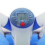 Klarfit Powersteps Stepper (antidérapant pour exercices aérobic avec extenseurs, poids supporté jusqu'à 100kg, ordinateur de bord) - bleu & blanc