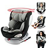 nania Siège Auto isofix SEATY 360° Groupe 0+/1/2/3 (0-36kg), évolutif et Grand Confort - Safety Baby