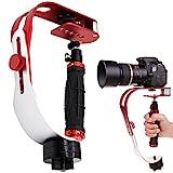 AFUNTA Pro camra vido de poche stabilisateur Steady, Parfait Monopodes pour GoPro, Cannon, Nikon ou tout appareil photo reflex numrique jusqu' 0,95 KG avec Smooth Glide Pro Steady Cam - Rouge + Argent + Noir