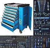 Servante d'atelier avec outils (247 pièces)