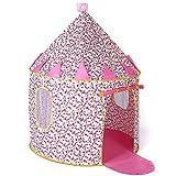 Sonyabecca Tente Enfant intérieur - Château de Princesse pour Filles Maison de Jouet Tente Pop Up de Princesse, Rose