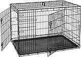 AmazonBasics Cage pliante en mtal avec 2portes pour chien - 122 cm