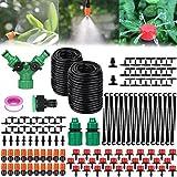 Amzeeniu 149 Pcs Micro Irrigation Goutte à Goutte Kit Arrosage Automatique,Automatique Kit d'irrigation Goutte à Goutte,Système d'irrigation Jardin,Jardin pour Plantes -30M Tuyau Goutte à Goutte