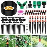 Ehomfy Arrosage Automatique Goutte a Goutte Kit Irrigation Micro Système d'Arrosage Automatique pour Jardin Pelouse Plante Paysage Potager Serre Terrasse Plate-Bande
