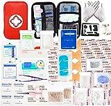 MOKIU 234pcs Trousse de Premier Secours Trousse de Secours Complete médical Boîte de d'urgence de Survie Extérieur pour Voiture Maison Travail Voyage Camping Randonnée Chasse et Sports