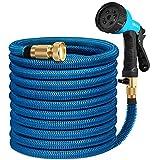HB life Tuyau d'arrosage Tuyau Flexible Tuyau d'eau 23M/75FT Tuyau Extensible à Multifonction Elastique Flexible pour Irrigation et Nettoyage du Jardin (23M, Bleu)