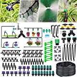 Jeteven 163PCS Kit d'irrigation Goutte, 40M Kit Micro Irrigation Goutte à Goutte Jardin Système d'Arrosage Micro Flow Automatique Automatique pour Jardin, Pelouse, Plante, Paysage, Potager, Serre