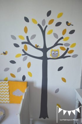 Stickers arbre hibou
